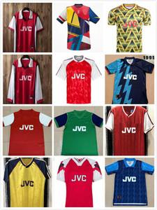 Rétro Arsen Banane meurtrie 1982 92 93 94 97 1998 1999 Home Henry Bergkamp Auto Soccer Jerseys 2000 2001 2004 Jersey Highbury Football Shirts
