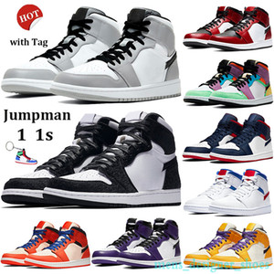 Örümcek adam 1 OG Basketbol Ayakkabıları Mens Womens Için 2019 En İyi Kalite 1 S kutusu Ile Yüksek Chicago Spor Tasarımcısı Sneakers US5.5-13