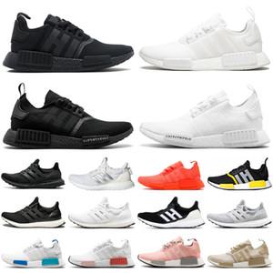 Adidas nmd r1 ultraboost ultra boost triple black white мужчины женщины кроссовки мужские женские кроссовки спортивные кроссовки размер 36-45