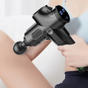 Electric Muscle Massage Gun Deep Tissue Muscle Massager Therapy Fascial Gun Fitness Muscle Pain Relief Massager GunRabin