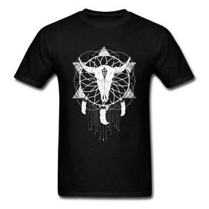 Traumfänger Männer des neuen Entwurfs Bull Skull White Dream Catcher Geburtstags-Geschenk Individuelle Kleidung Baumwollhoodie Designer-T-Shirts Sweatshirt