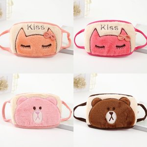 Cartoon Pattern Dustproof Face Masks Plush Double Layer Reusable Washable Student Letter Embroidery Face Mask New Arrival 2 78jt J2