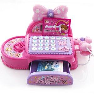 أطفال سوبر ماركت تسجيل النقدية مقلد لعب دور لعبة هدية عيد ميلاد فتاة متعدد الوظائف اللعب النقدية مع آلة حاسبة والماسح الضوئي 1019