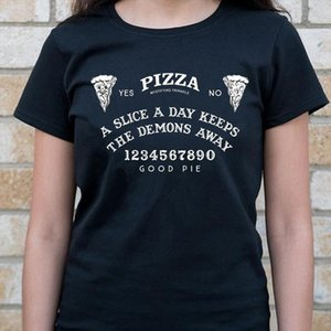 VIP HJN Women Pizza Ouija Board T Shirt Hipsters Summer Cute Funny Tee Grunge Goth Clothing Halloween Witch Shirt