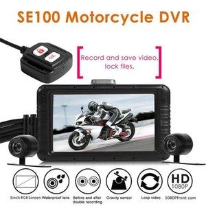 SE100 FHD 1080P Motorcycle DVR Dash Cam Frontal + Vista posterior Cámara de Motocicleta Cámara Dual Lente Video Recorder Motorbike Night Vision1