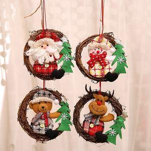 Расположение двери украшения сцены старого человека Снеговик Рождественская елка Подвеска Рождество орнамент 4 стиль T2I51555