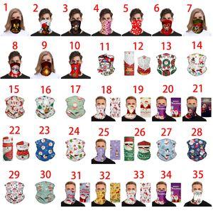 Máscara de Chirstmas Decoratian del pañuelo facial Cosply Elk bigote Bandana mask regalos mágico Pañuelo de cabeza diadema visera cuello polaina de Navidad
