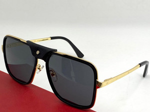 0263SA Nuevas gafas de sol populares Gafas cuadradas para hombre con marco de metal y piernas Vidrios de estilo informal simple 100% UV400 Protección