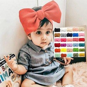 Baby Large Bowknot Headband Cotton Children Girls elastic hair bands Turban for Girl Headbands Fashion Hair Accessories OWD2149