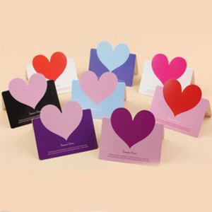 10pcs Paper Tags Heart Shape Label Luggage Wedding Event Note Wish Greeting Card Craft Gift