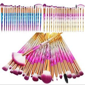 Flaş Plastik Kozmetik Fırça Seti Elmas Şekli Kol Yumuşak Saç Fırçası Kadın Güzellik Makyaj Kıl Fırçalar Seti 13 6XL G2