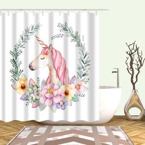 Dulce vida encantadora dibujos animados patrón rosa ducha cortina lavado baño ducha impermeable a prueba de agua decoración 180x200 Cortina de ducha