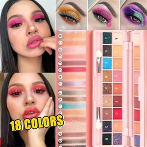 18 Color Beauty Glazed Professional Soft Glam Matte Eyeshadow Glitter Eye Shadow Palette Long Lasting Makeup Eyeshadow Pallete