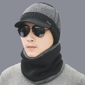 Hot inter-Chapéus Skullies Gorros Chapéu de Inverno Gorros para homens mulheres cachecol de lã Caps Balaclava Máscara Gorras Bonnet Gorro