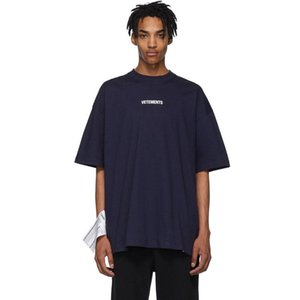 2019 Vetements Letter Embroidery Fashion Tee Super large standard Casual Simple Summer Breathable Tee Men Women Short Sleeve HFSSTX004