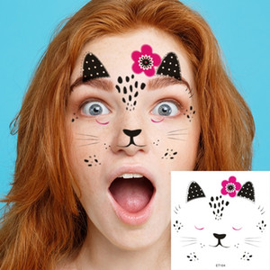 أطفال الحيوان تصميم مقاوم للماء وهمية الوشم ملصقات مهرجان هالوين المؤقتة الوشم فن الجسم الوشم ملصق فلاش