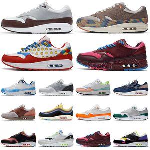 air max 1 airmax 87 1s hombres zapatos para correr 1 Amsterdam Iridiscente lavado con ácido Bred CNY Anniversary 87 hombres mujeres zapatillas deportivas 36-45