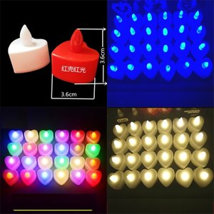led candle Heart electronic candle light up birthday party Valentine's day Halloween led toys gifts Lighting Wedding Decoration H11903