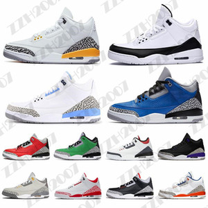 nike air jordan retro 3 3s aj3 Cool Grey 3 uomini scarpe da basket 3s cemento Red Animal Instinct infrarossi UNC retròmens recipienti scarpe sportive 7-13