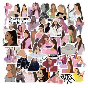50 PCS Mix Car Stickers Ariana Singer For Skateboard Laptop Fridge Helmet Stickers Pad Bicycle Bike Motorcycle PS4 Notebook Guitar Pvc Decal