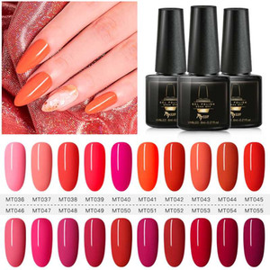 Mtssii 7ML Red Color UV Gel Nail Polish Gel Lacquer Semi Permanent Soak Off Uv Lamp For Varnish Base Needed Nail Art Lacuqer