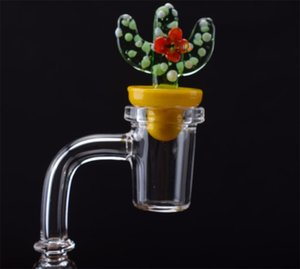 High Quality Conical Quartz Banger Club Nail With Cactus Carb Cap 90 45 Degree 10mm 14mm 18mm male female For smoking Tools