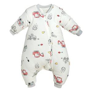 Elinfant 1 ADET Yeni Varış Yenidoğan Bebek Bölünmüş Bacak Uyku Tulumu Sonbahar Ve Kış Yumuşak Kalınlaşmış Saf Pamuk Bebek Uyku Tulumu W1218