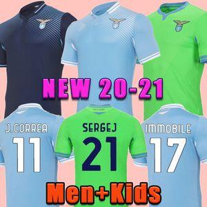 20 21 Lazio Soccer Jersey 2020 2021 Футбольная футболка Lazio LUIS ALBERTO J.CORREA CAMISETA DE FúTBOL DEMOBILE SERGEJ MAILOT DE FOG