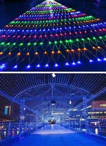 Pesca LED Net stringa Flashing Lights esterna impermeabile da sposa Luci Decorazione Natale stellato