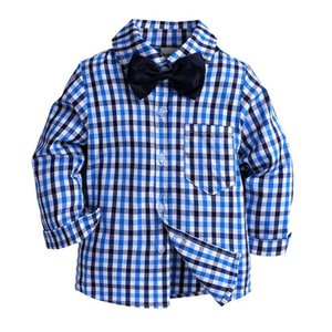 New Children shirts Casual Plaid Full sleeved Boys shirts Clothing For 2-7 Year kids wear
