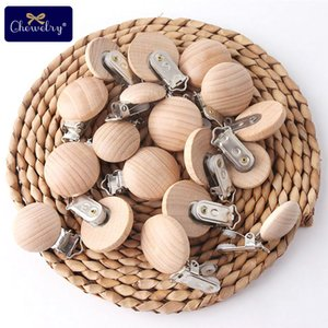 50PC Baby Pacifier Clips Beech Wooden Clips For Pacifier Chain Wood Dummy Clips Wooden Blanks Teether Holder DIY For Kid Goods 201012