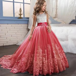 Flower Girl Wedding Evening Long Party Dresses Kids Dresses For Girls Princess Dress Teenage Dress 7 8 9 10 12 14 Year Vestidos