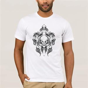 for Alien Tribal Tattoo Summer White Black Pattern Print Tee Skull Fashion Mens Short sleeve sport Hooded Sweatshirt Hoodie men t shirt