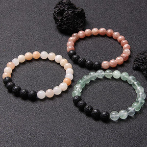 Charm Lava Rock Natural stone bracelet Aventurine Fluorite Beads Bracelets energy Fashion women Yoga Casual style Jewelry Gift
