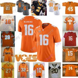 Пользовательские 2020 Теннесси Волонтеры футбол Джерси NCAA колледж Реджи Белый Alvin Камара Джейсон Виттена 15 Jauan Дженнингс 18 Doneiko Убойный