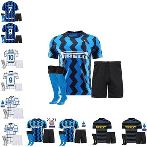 INTER MILAN soccer jersey ERIKSEN LUKAKU LAUTARO ALEXIS 20 21 PERISIC SKRINIAR GODÍN football shirts 2020 2021 uniforms kids kit +socks