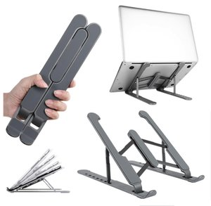 Taşınabilir Laptop Standı Katlanabilir Destek Baz Dizüstü Standı Macbook Pro Microsoft Lapdesk Bilgisayar Dizüstü Bilgisayarlar Tutucu Soğutma Yükseltici 3 Renk