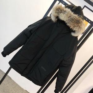 Canadá Jackets Mens blusão quente grossa com capuz Letters Bordado Casual Jacket Moda Casacos de inverno para baixo doudoune Parkas Tamanho XS-2XL