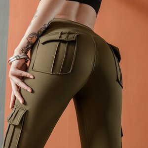 Fashion fitness belt pocket women's Yoga Pants scalable high running tights women's sports tights