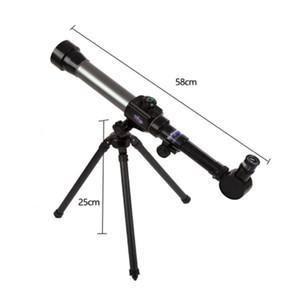 Bambini All'aperto Professionista Stargazing Space Telescopio astronomico con treppiede Zoom Zoom Spazio monoculare Stelle di luna Stars Osservazione Scope LJ201114