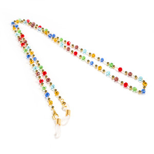 5pcs Lot Handmade Non-slip Eyeglasses Chain Acrylic Copper Colorful Beaded Glasses Rope Women Lanyards Reading Sunglasses Chain