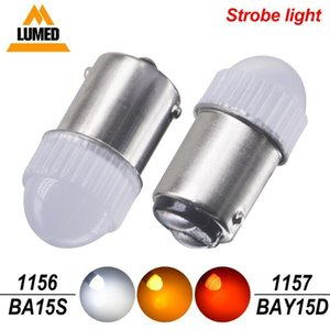1157 led BAY15D P21 5W 1156 BA15S P21W T20 7443 strobe flash brake light Auto Rear stop lamp Turn signal light1