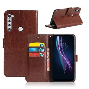 Nueva PU cuero CASER para Motorola Moto G9 Plus G8 Power Lite Plus Play One Macro Hyper Fusion Business Wallet Teléfono Ense