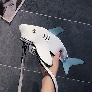 Смешные акулы женщин мешки плеча шаржа цепи Сумка женская Прекрасные PU кожа сумка телефон Crossobdy Сумки Bolsas Feminina C1016