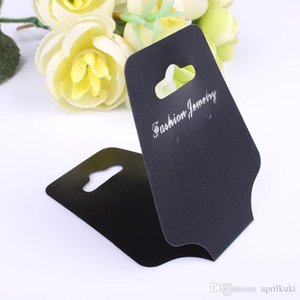 China Wholesale 5 .1 *12 .5 Cm Black Necklace  Bracelet  Rings Display Cards Jewelry Organizers Jewelry Displays Card Gift