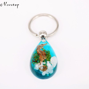 16 PCS charming sea horse key chain dragon sea key ring car key chain kc26 2020new