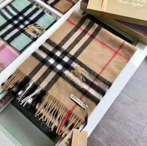 2020 heißen Verkauf-Europa Winter New Art-Qualitäts-Frauen Kaschmir-Schal-Schal Frau Wolle Schal 30 * 180cm keine freies Verschiffen S110 Box