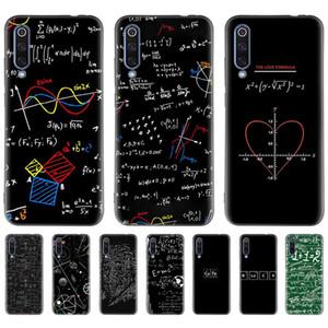 Math Emc 2 Caso Preto para Xiaomi Mi Nota 9T 10 Poco F1 F2 CC9 CC9E A2 A1 8 Lite 9 Se Pro A3 Silicone Mobile Phone Capa