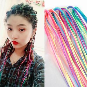 Arc-en-ciel couleur mignon fille coiffeur tresse cheveux coiffure outils rouleau tresse maintenance l'accessoire de cheveux princesse