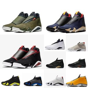 Mens 14s Jumpman Z retro 14 basketball shoes aj14 Bred Olive 2019 new lebron 18 high top air flights sneakers tennis with box size 7 13